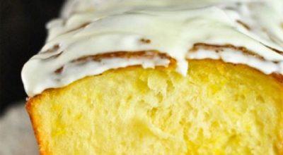 Обычный кекс – рецепт с лимоном