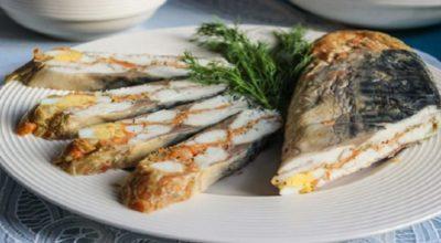 Совершенно новое и необычное блюдо из скумбрии — вареный рулет!