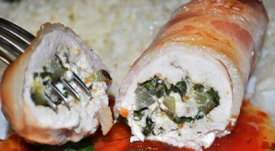 Куриный рулет с творогом и зеленью: лучшая замена магазинной колбасе!