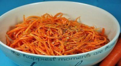 10 минут и вкусная, ароматная морковь по-корейски готова!