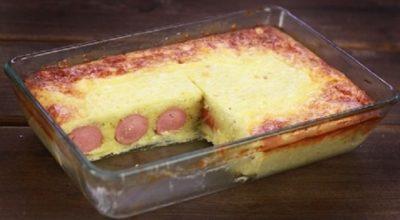 Практичный рецепт запеканки с сосисками