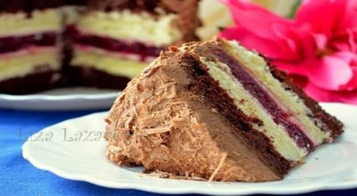 Многослойный торт «Мишель». При всей кажущейся сложности — торт весьма прост, ведь желе и коржи мы делаем заранее!