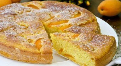 Очень вкусный пирог с абрикосами