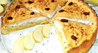 Вкуснейший, нежный яблочный пирог с безе — пальчики оближешь!
