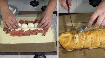 Восхитительный рецепт мясного пирога, от которого невозможно оторваться