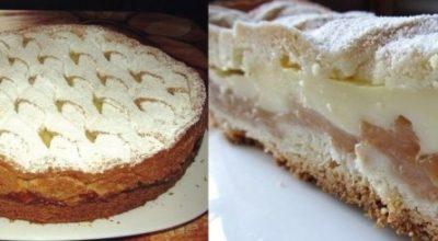 Просто великолепный яблочный пирог с нежным кремом. Нежный и сочный!