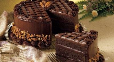 Шикарный торт «Черная магия» на кефире с кофе