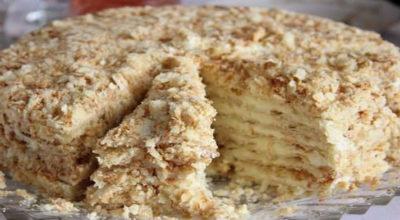 Торт с творогом без выпечки
