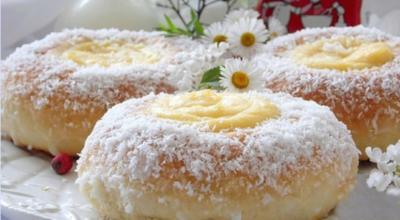 Замечательный рецепт булочек с заварным кремом