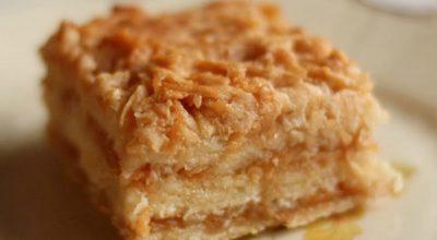 Удивительно вкусный, нежный болгарский яблочный пирог или пирог «3 стакана». Просто наслаждение
