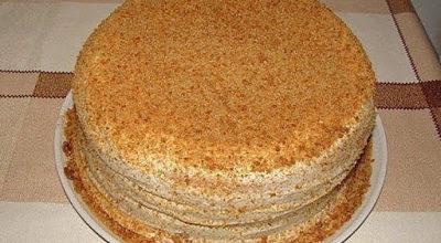 Торт «Сметанник» на скорую руку