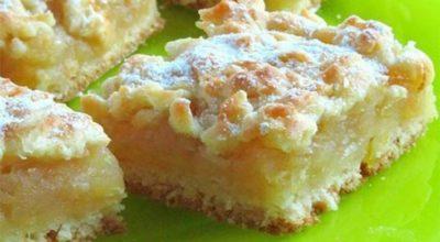 Пирог с нежной лимонно-яблочной серединкой