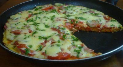 Очень простой и быстрый рецепт пиццы на сковороде