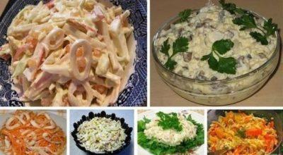 6 простых и вкусных салата с кальмарами