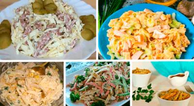Оригинальные салаты с яичными блинчиками. 5 рецептов
