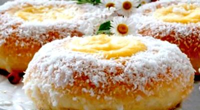 Замечательные булочки с заварным кремом из дрожжевого теста Утопленник