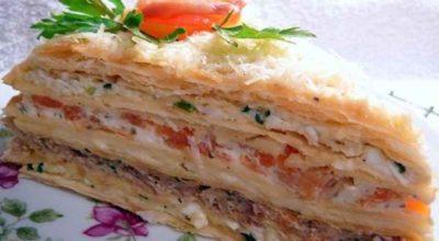 Торт «Закусочный наполеон»