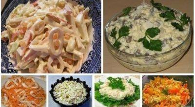 6 простых и очень вкусных салатов с кальмарами