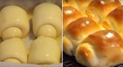 Тесто для булочек «Хоккайдо» увеличивается в 3 раза! Поэтому они такие нереально мягкие